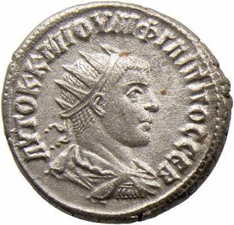 Philip II. A.D. 247-249. Syria, Seleucis & Pieria, Antioch. Billon Silver Tetradrachm. ANTIOXIA_obv