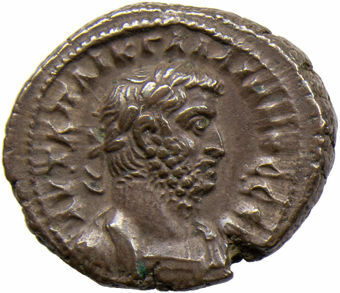 Gallienus. A.D. 253-268. Roman Egypt - A.D. 265. Billon Tetradrachm. Tych_obv