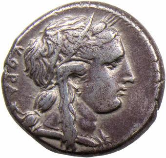 Sicily, Syracuse. Time of Agathokles, Ca. 310-308 B.C. AR Tetradrachm_obv