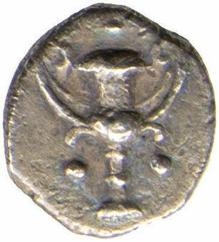 Calabia, Tarentum. Ca. 280-228 B.C. AR Obol_obv