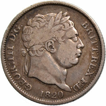 Picture of George III, Shilling (Bull Head) VG