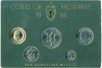 Picture of Norway, 1991 Five NOT Six Coin Mint Set