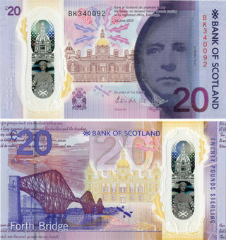Picture of Bank Scotland £20 2019 P-New Polymer Regular Unc