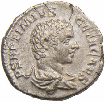 Geta as Caesar_A.D. 198-209. Rome - A.D. 206_AR Denarius. PROVID DEORVM_obv
