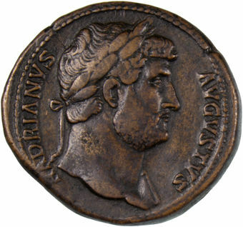Hadrian. A.D. 117-138. Rome - A.D. 127. Æ Sestertius_obv