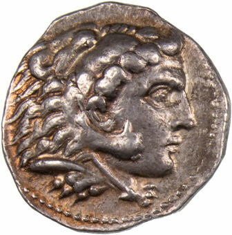 Ptolemy I as Satrap in the name of Alexander the Great. 323-305 B.C. AR_Tetradrachm_obv
