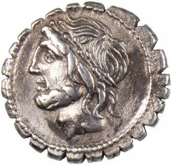 Roman Republic. 106 B.C. - L. Cornelius Scipio Asiaticus. AR Denarius Serratus_obv