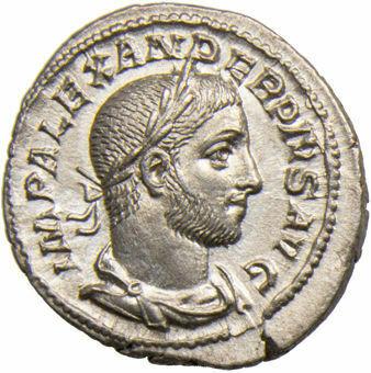 Severus Alexander. A.D. 222-235. Rome - A.D. 232. AR Denarius. P M TR P XI COS III P P_obv