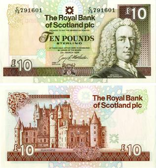 Royal Bank Scotland Plc £10 March 1994 P353 Unc
