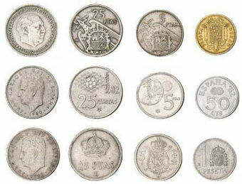 Spain_Three sets of coins