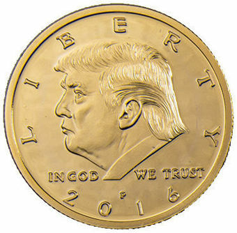 Picture of Unites States of America, Donald Trump half dollar sized medal
