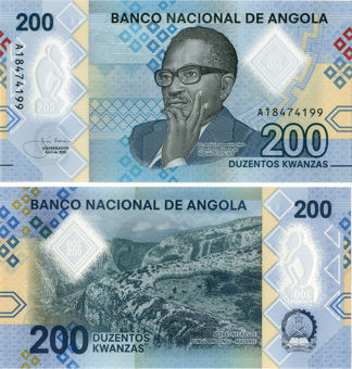 Picture of Angola 200 Kwanzas 2020 P-New Polymer