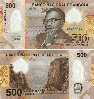 Picture of Angola 500 Kwanzas 2020 P-New Polymer Unc