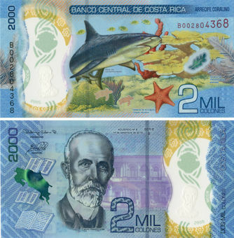 Picture of Costa Rica 2000 Colones 2018 (2020) P-New Shark Polymer Unc