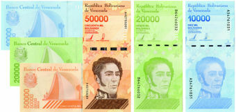 Picture of Venezuela 10,000-50,000 2019 (3)  P-New Unc