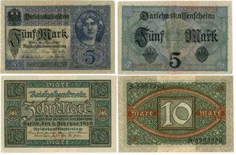 Germany 5 Marks 1917_Germany 10 Marks 1920
