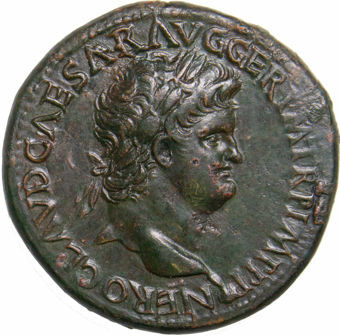 Nero. A.D_54-68_Rome - A.D_64_Æ_Sestertius_obv