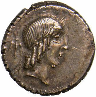 Roman Republic. L. Calpurnius Piso Frugi. 90 B.C. AR Denarius_obv
