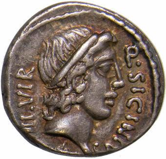 Roman Republic. Q. Sicinius & G. Coponius. 49 B.C. AR Denarius_obv