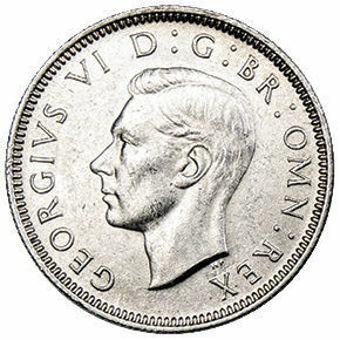 George VI_Shilling_English_Silver_High_Grade_obv