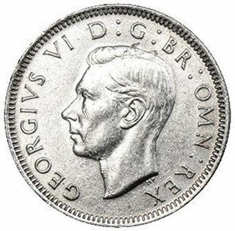 George VI_Shilling_Scottish_Silver_High_Grade_obv