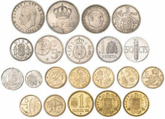 Spain_19_Different_Pre-Euro_Coins