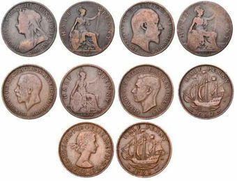 Bronze_Halfpenny_Monarch_Collection