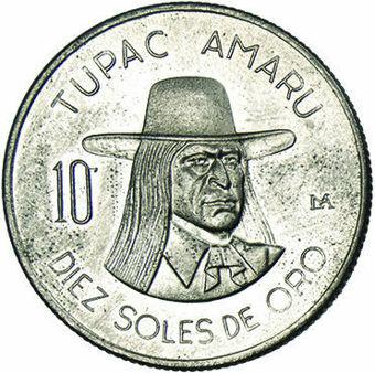 Peru_10_Soles_Tupac _Amaru_1973_Obv