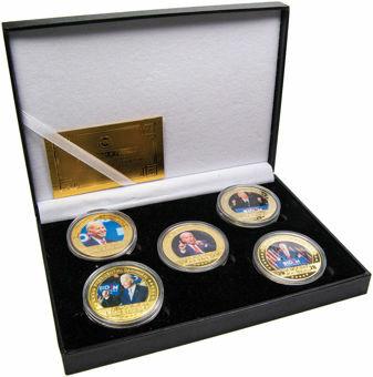 Joe Biden 5 Medal Collection in Case