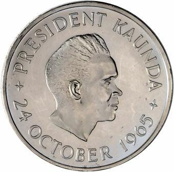 Zambia_5_Shillings_President_Kaunda_1965_Cupro-nickel_Proof_obv