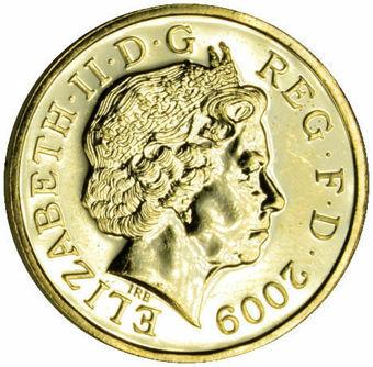 2009 £1 (Specimen Pound) Prooflike Unc_obv