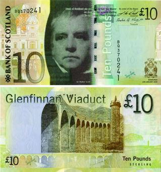 Bank Scotland £10 2009 P125b Paper Unc