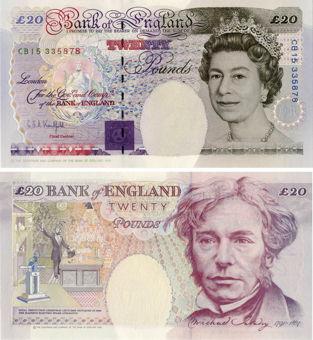 G E A Kentfield Historical £20 Enhanced B375 Unc