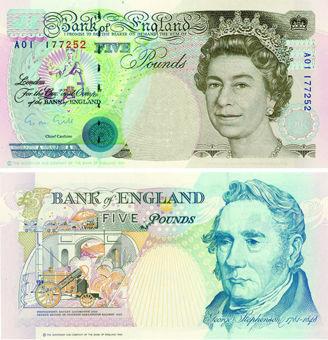 G M Gill Historical £5 B357 A Prefix Unc