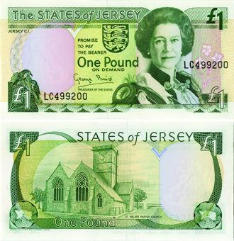 Jersey £1 P20 Baird Unc