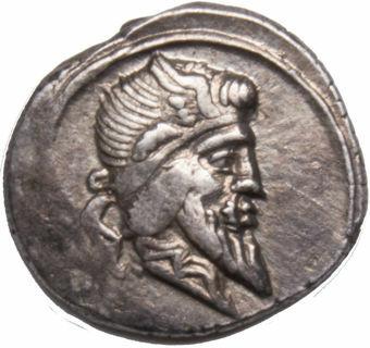 Roman Republic. 90 B.C. - Q. Titius. AR Denarius. Q.TITI_obv