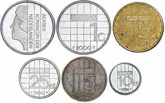 Netherlands, Queen Beatrix  5 Coin Set