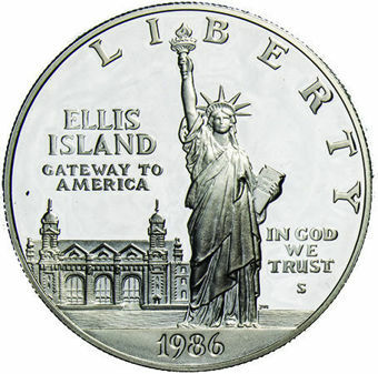 Liberty Dollar 1986 Statue Liberty Silver Proof_obv
