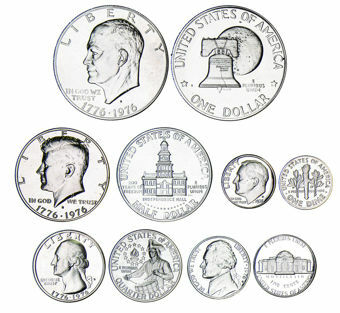 Picture of United States of America, 1976 Bi-centennial 3-coin Silver Proof Set