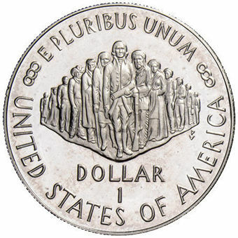 200th Anniversary of the American Constitution Silver Dollar_obv