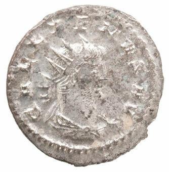 Gallienus. A.D. 253-268. Antioch - A.D. 267. Silvered Æ Ant. SOLI INVICTO_obv