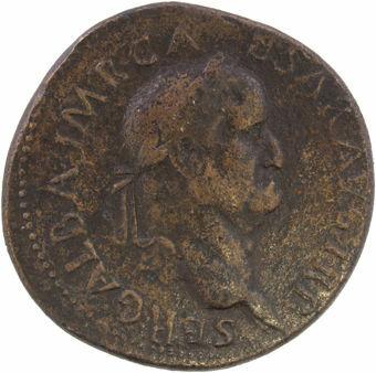 Galba. A.D. 68-69. Rome - October A.D. 69. Æ Sestertius. LIBERTAS PVBLICA_obv