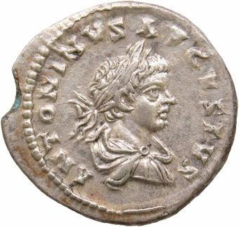 Caracalla, AD 198-217. Silver Denarius. FELICITAS AVGG_obv