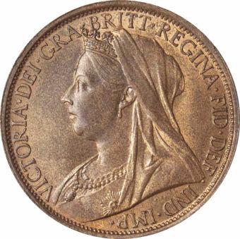 Victoria, 1896 Penny Unc_obv