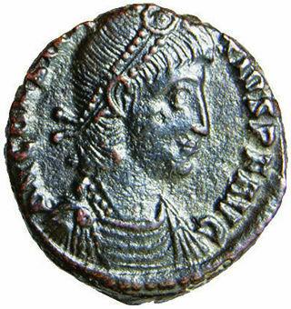 Constantius II Bronze Very Fine Soldier_obv