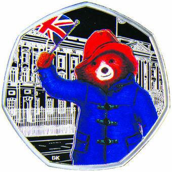 2018 50 Pence (Paddington Bear at the Palace) Silver Proof _obv