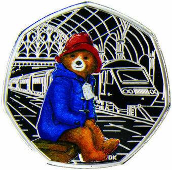 2018 50 pence (Paddington Bear at the Station) Silver Proof _obv