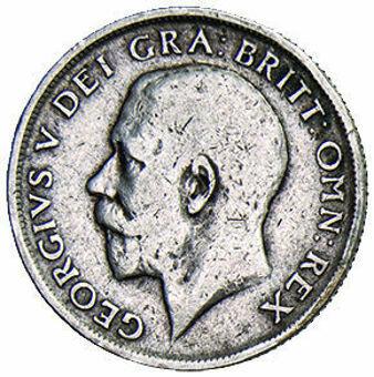 George V Sterling Silver Shilling_obv