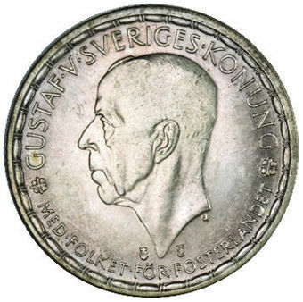 1947 2 Kroner About Uncirculated_obv
