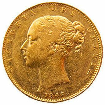 1846_Sovereign (Shield) Fine_obv